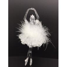 Decoratiune balerina argintie