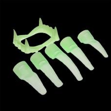 Set dinti si 10 unghii fosforescente