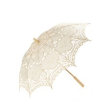 Umbrela din dantela de macrame