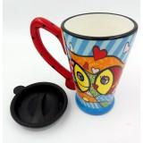 Cana colorata din ceramica